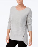 Bar III Asymmetrical Grommet-Detail Sweater, Only at Macy's