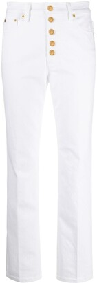 Tory Burch High-Waisted Slim Fit Jeans