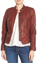 Hinge Patch Pocket Leather Jacket