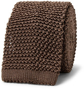 Richard James 6cm Knitted Silk Tie - Brown
