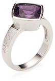"""M2 Design by Mary Margrill Amethyst """"Love"""" Cocktail Ring"""