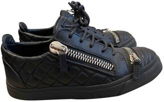 Giuseppe Zanotti Nicki Black Leather Trainers