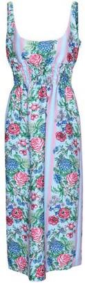 Emilia Wickstead Gathered Floral-print Cloque Midi Dress