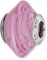 Reflections Sterling Silver Light Pink with Swirls Italian Murano Bead