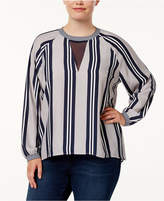 Melissa McCarthy Trendy Plus Size Illusion Blouse