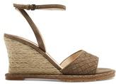 Bottega Veneta Intrecciato suede espadrille wedge sandals