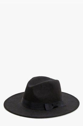 boohoo Ribbon Trim Fedora