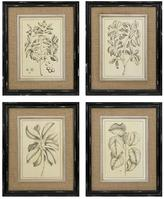 "Home Decorators Collection 21 in. x 17 in. ""Margot"" 4-Piece Framed Wall Art"