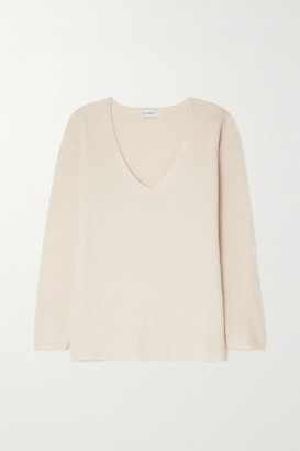 Ernest Leoty Eloise Ribbed Merino Wool And Cashmere-blend Sweater - Ivory