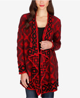 Lucky Brand Patterned Cascade-Front Cardigan, Only at Macy's
