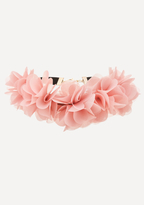Bebe Fabric Flower Choker