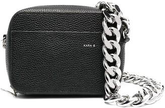 Kara Zip-Up Leather Crossbody Bag