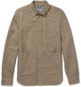 Aspesi Slim-fit Cotton And Linen-blend Twill Overshirt - Sand