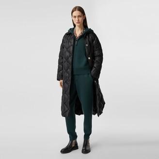 Burberry Logo Applique Down-filled Belted Coat
