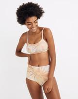 Madewell Second Wave Retro High-Waisted Bikini Bottom in Tie-Dye Print