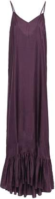 Mes Demoiselles Delling Gathered Washed-silk Maxi Dress