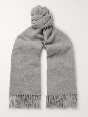 Acne Studios Canada Narrow Fringed Melange Wool Scarf