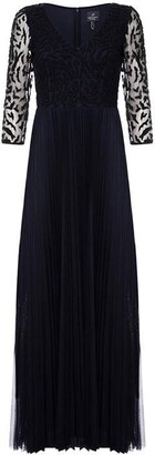 Adrianna Papell Adrianna Long Beaded Dress Womens