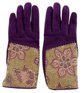Etro Jacquard Suede Gloves
