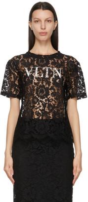 Valentino Black Lace VLTN Blouse