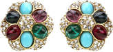 Ben-Amun Byzantine Crystal Button Earrings