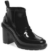 Hunter Refined Gloss Penny Loafer High Heel Rain Boot (Women)