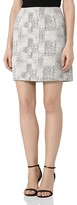 Reiss Vivienne Jacquard Mini Skirt