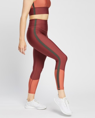 The Upside Women's Red Tights - Murti Dance Midi Pants - Size S at The Iconic