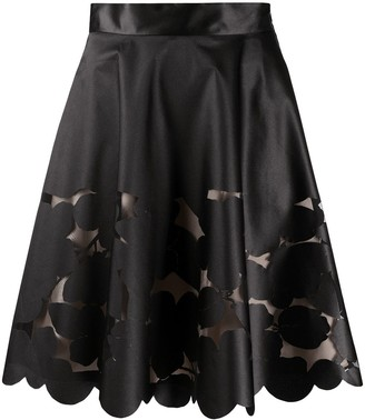 Pinko Laser Cut Detail Skirt