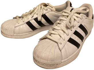 adidas Superstar White Leather Trainers