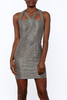 Sugar Lips Sugarlips Silver Straps Dress
