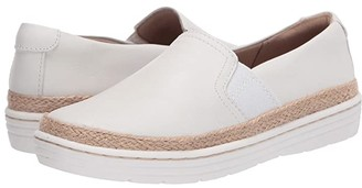 Clarks Marie Sail (White Leather) Women's Shoes
