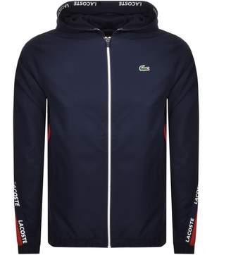 Lacoste Sport Full Zip Hooded Jacket Navy