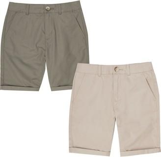 River Island Boys Beige and khaki chino shorts multipack