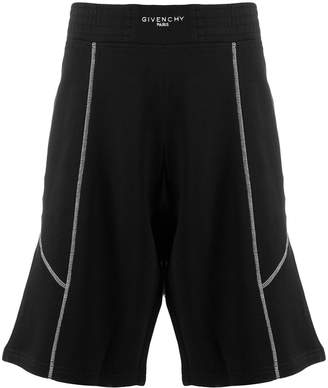 Givenchy contrast stitching bermuda shorts