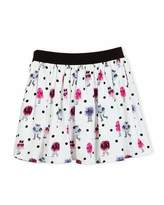 Kate Spade Pebbled Crepe Monster Skirt, Multicolor, Size 2-6