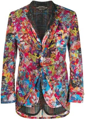 Comme Des Garçons Pre Owned Olleborebla Cartoon layered blazer