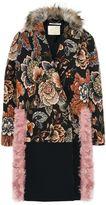 Stella McCartney fur free fur jacquard rosemarie coat