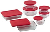 Pyrex 14-Piece Storage Set with Red Lids