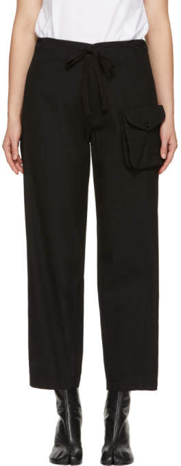Y's Ys Black Detachable Pocket Trousers