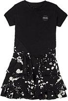 Nununu Paint-Splatter-Print Cotton Jersey Dress