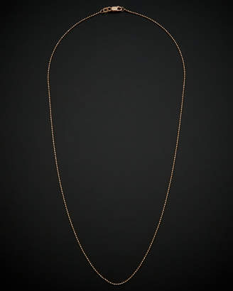 14K Italian Rose Gold Ball Chain Necklace