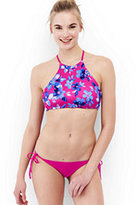 Lands' End Women's Reversible High-neck Bikini Top-Starry/Navy Storm