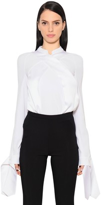 Antonio Berardi Crossover Envers Satin Shirt