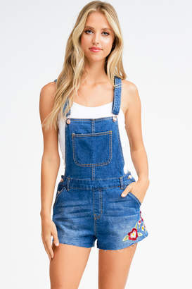 Montrez FLORAL EMBROIDERED OVERALLS