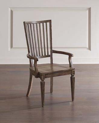 Hooker Furniture Woodlands Wood Back Arm Chairs, Set of 2