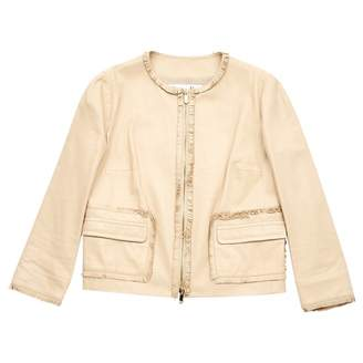 Christian Dior Beige Leather Jackets
