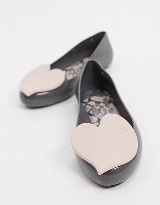 Melissa heart flat shoes in slate