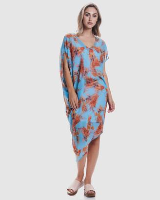 Faye Black Label - Women's Blue Dresses - Draped 2-Piece Dress - Size One Size, 10 at The Iconic