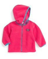 Patagonia Infant Girl's 'Synchilla' Fleece Cardigan